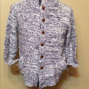 Men's Fossil Heavy Cotton Knit Cardigan Sz L